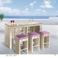 בר לגינה  - בני: שולחן+3 כסאות