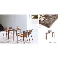 בר לגינה - דיסקו: שולחן+4 כסאות