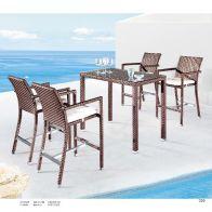 בר לגינה - וילי: שולחן+4 כסאות
